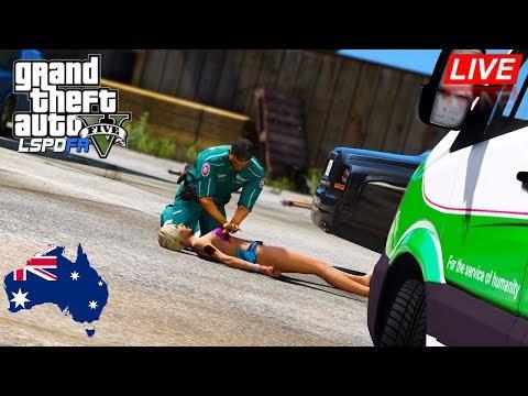 GTA 5 - LSPDFR Australia LIVE - WA St. John Ambulance Paramedic Patrol