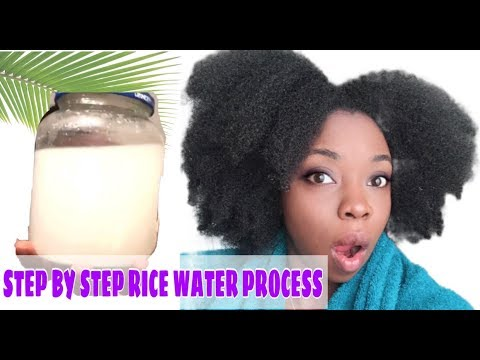Download HOW TO MAKE RICE WATER SUPER HAIR GROWTH TREATMENT   USING RICE WATER RINSE ON NATURAL HAIR