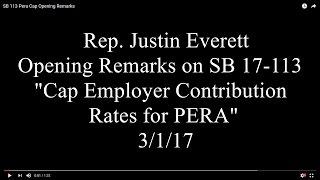 SB 113 Pera Cap Opening Remarks