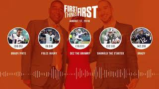 First Things First audio podcast(8.17.18) Cris Carter, Nick Wright, Jenna Wolfe | FIRST THINGS FIRST