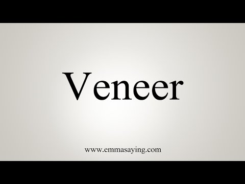How To Say Veneer Youtube