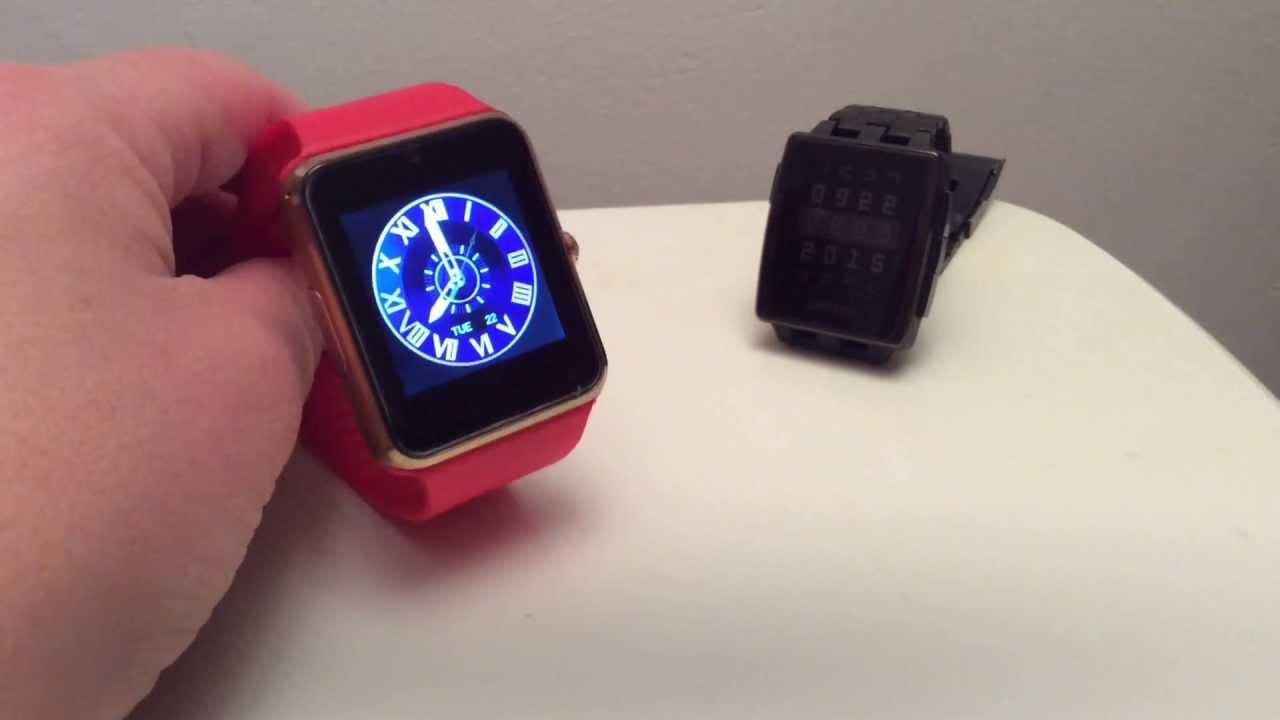 Картинки по запросу Smart Watch GT-08 (black, silver, gold, red)