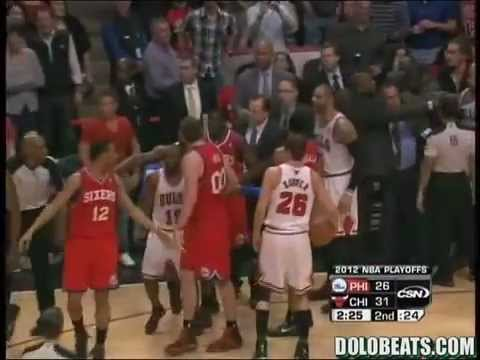 Taj Gibson and Elton Brand get into a FIGHT!!!!!!!