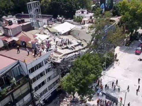 Earthquake for Mexico City 7.1 Magnitude Sep 19, 2017 Major Earthquake Hits full HD video