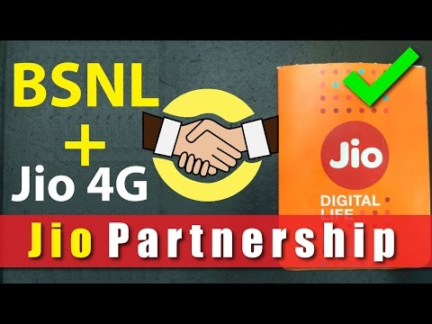Reliance Jio Signs Deal with BSNL | Intra Circle Roaming Agreement | Jio 4G for BSNL Users
