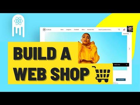 ECommerce Web Shop - Build & Deploy an Amazing App   React.js, Commerce.js, Stripe