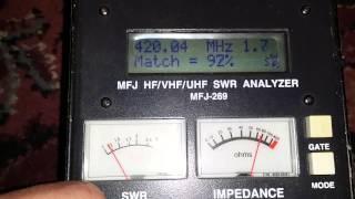 MFJ-269 Antenna Analyzer Test with 4-stack and X510N