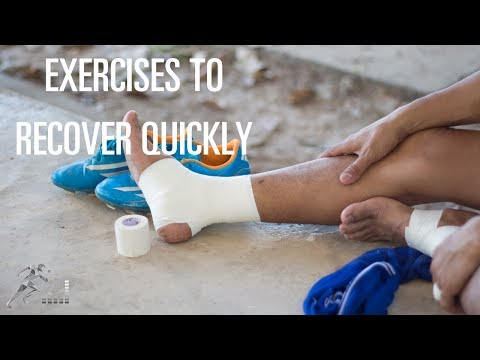 Exercises for an ankle sprain to help you recover quickly
