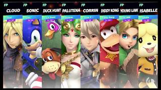 Super Smash Bros Ultimate Amiibo Fights Request #1525 Stage Morph Free for all