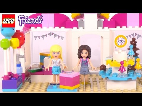 LEGO Friends Heartlake Party Shop - Playset 41132 Toy Unboxing & Speed Build
