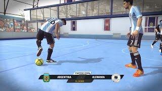 Fifa Street Gameplay Xbox 360 - Argentina Vs Alemania, Muchos Goles, Duelo de Porteros