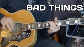 bad things by jace everett guitar lesson with erich andreas