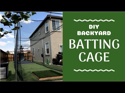 Backyard Batting Cage DIY | Baseball, Cricket, Soccer, Golf & More! | How We Built It!