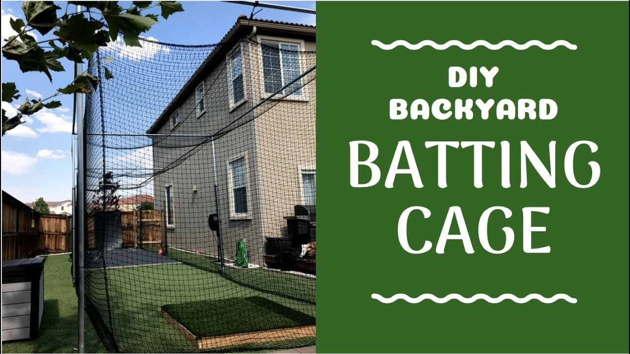 Backyard Batting Cage Diy Baseball Cricket Soccer Golf More How We Built It