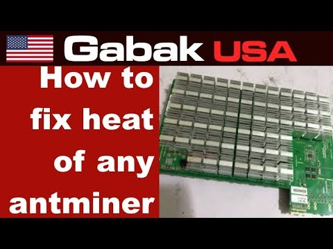 How to fix heat sink of any antminer S9 L3 D3
