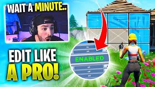 This Is Why Pros Have This Setting Enabled...HOW TO EDIT FAST IN FORTNITE!