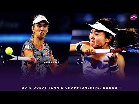 Elise Mertens vs. Zhu Lin   2019 Dubai First Round   WTA Highlights