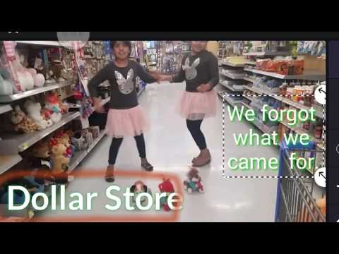 Dollar Store Shopping  And Walmart With Our Piggy Bank Money.!!
