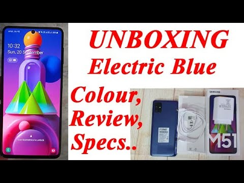 Samsung M51 Electric Blue Colour Unboxing & Review |Buy from Amazon with Discount🔥🔥