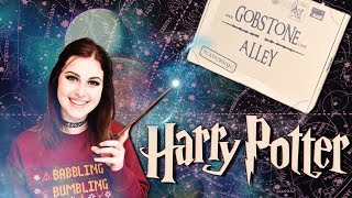 GOBSTONE ALLEY HARRY POTTER JANUARY 2018 UNBOXING   Book Roast