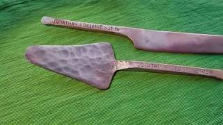 How to Make a Copper Wedding Cake Knife