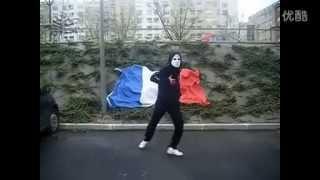 鬼步舞-法国面具男 绝对经典.flv