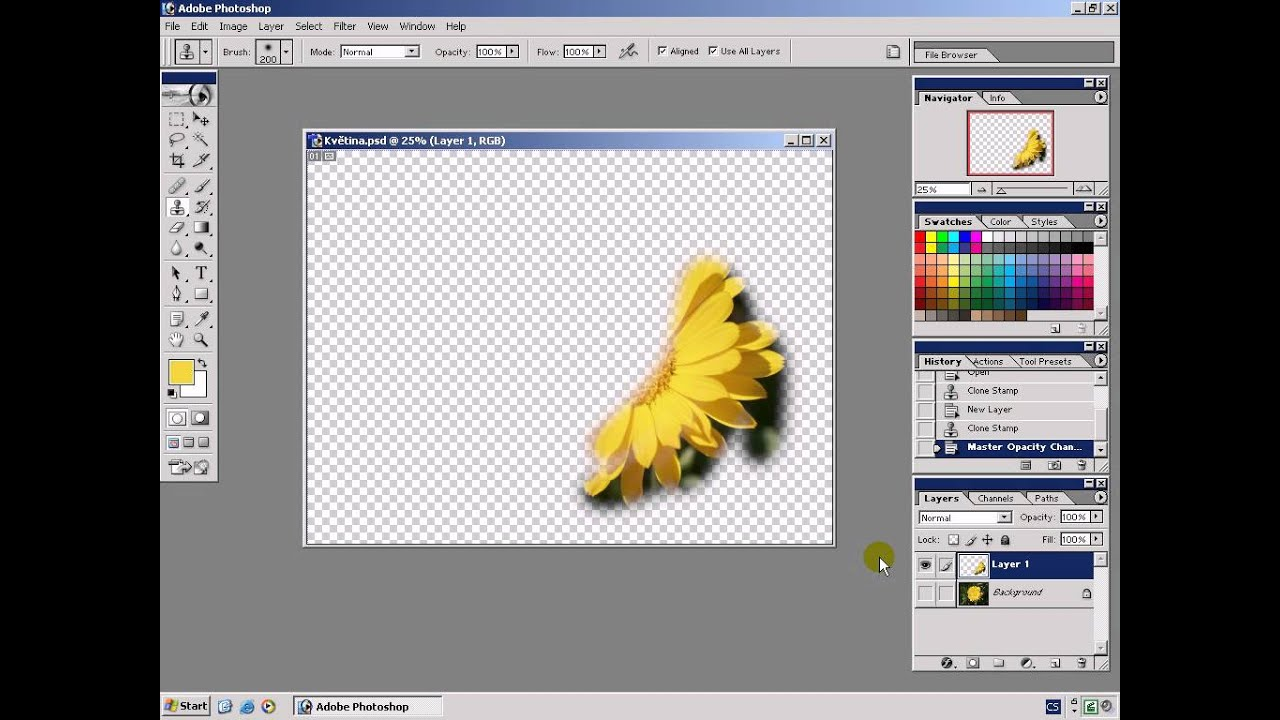 Photoshop tutorial 16. Klonovací razítko (cz) youtube.