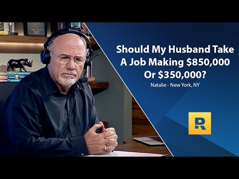 The Woody Show - Should My Husband Take A Job Making $850,000 Or $350,000?
