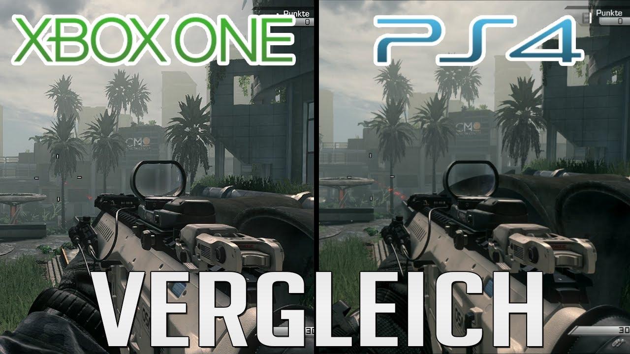 PS4 Vs XBOX ONE CoD Ghosts Grafik Vergleich Comparison