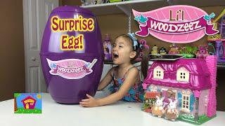 Lil Woodzeez Country Cottage Dollhouse & Huge Surprise Egg! Lil Woodzeez Toys