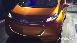 2016 Chevrolet Bolt Electric Vehicle Concept - 2015 Detroit Auto Show  Car Crash...