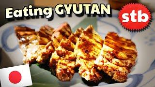 Eating Gyutan BEEF TONGUE in Tokyo, Japan w/ Frame of Travel