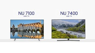 Samsung | NU7100 ve NU7400 UHD Smart TV Kıyaslama