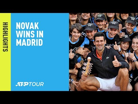Highlights: Djokovic Beats Tsitsipas For 2019 Madrid Title