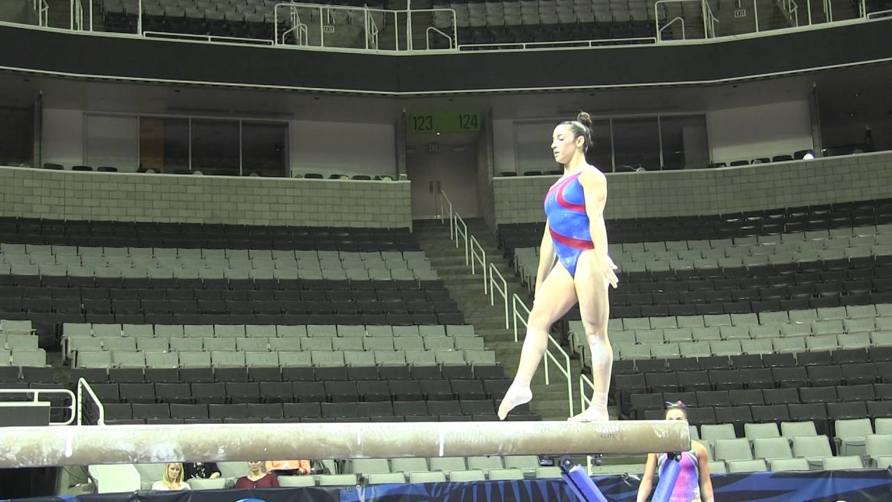 aly raisman balance beam us olympic trials podium training youtube