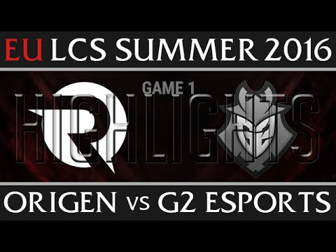 Origen vs G2 Esports Game 1 Highlights - EU LCS Week 1 Summer 2016 - OG vs G2 G1 New Flash Game