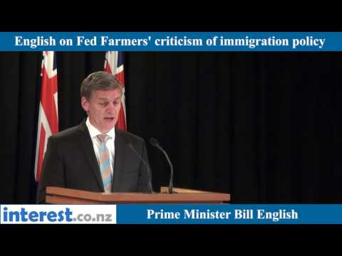 English on Feds immigration criticism