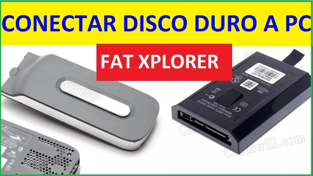 COMO CONECTAR DISCO DURO DE XBOX 360 A LA PC CON FATXPLORER - FACIL BIEN  EXPLICADO 2019