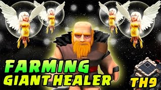FARMING GIANT HEALER TH 9 | LOOTNYA FANTASTIS - CoC Indonesia