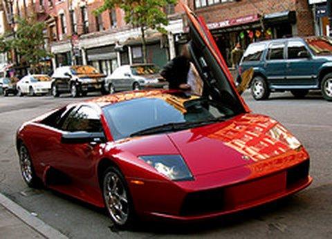 Lamborghini Murcielago Red Convertible