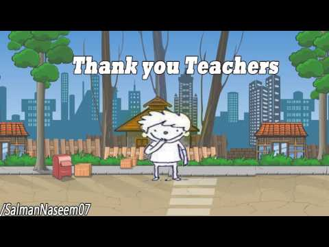 Thank you Teacher for Never Giving up - Happy Teachers Day