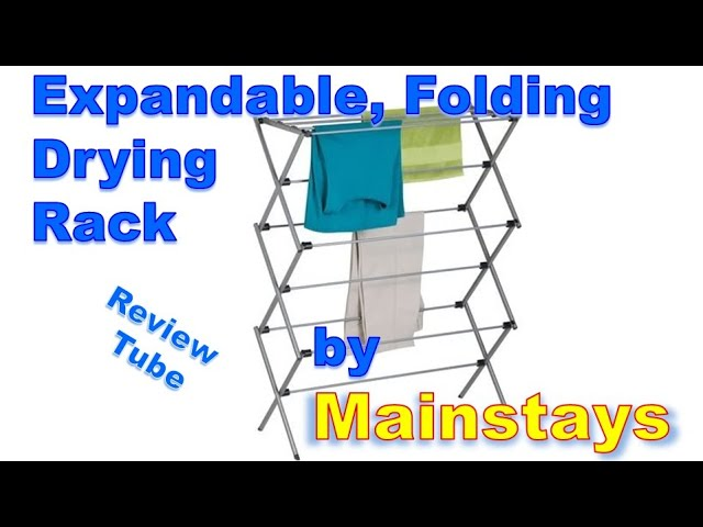 expandable folding drying rack by