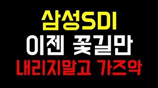 [주식]삼성SDI 폭등 양호한 수요증가세 소형전지 쩐형…