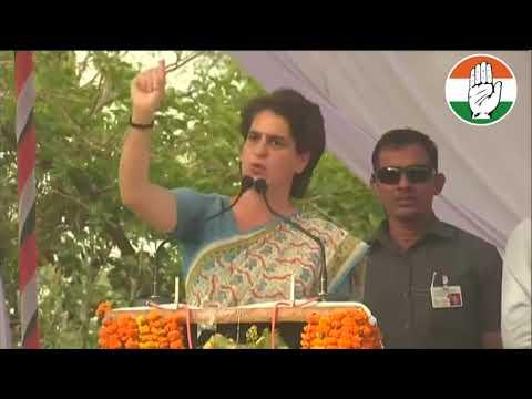 Smt. Priyanka Gandhi Vadra addresses a Public Meeting in Jaunpur, Uttar Pradesh