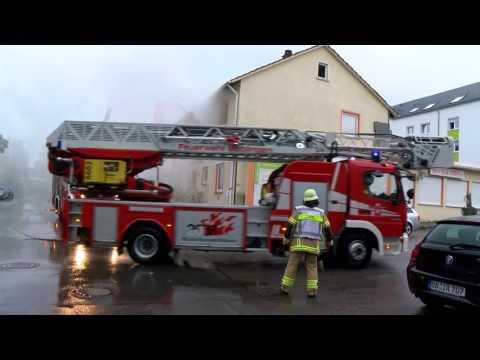 Übung der Feuerwehr Böblingen am 25.7.17 in Böblingen