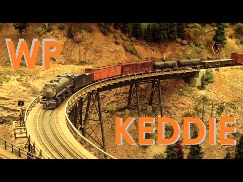 Jim Dias's HO scale WP Western Pacific Model Train Layout ~ Keddie Wye & Portola