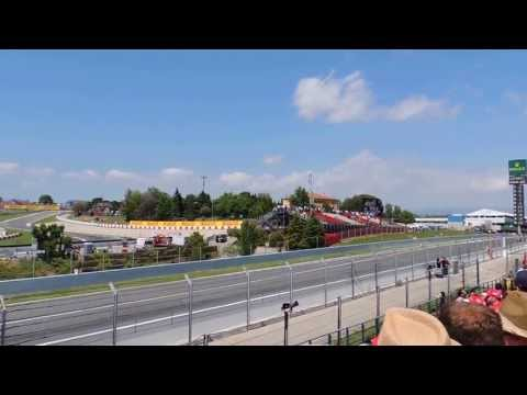 F1 Spanish Grand Prix 2013 view on the tribune K
