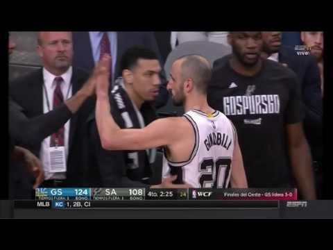 De pie, señores: la ovación a Manu Ginóbili en San Antonio Spurs