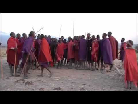 Maasai Dancing and Jumping