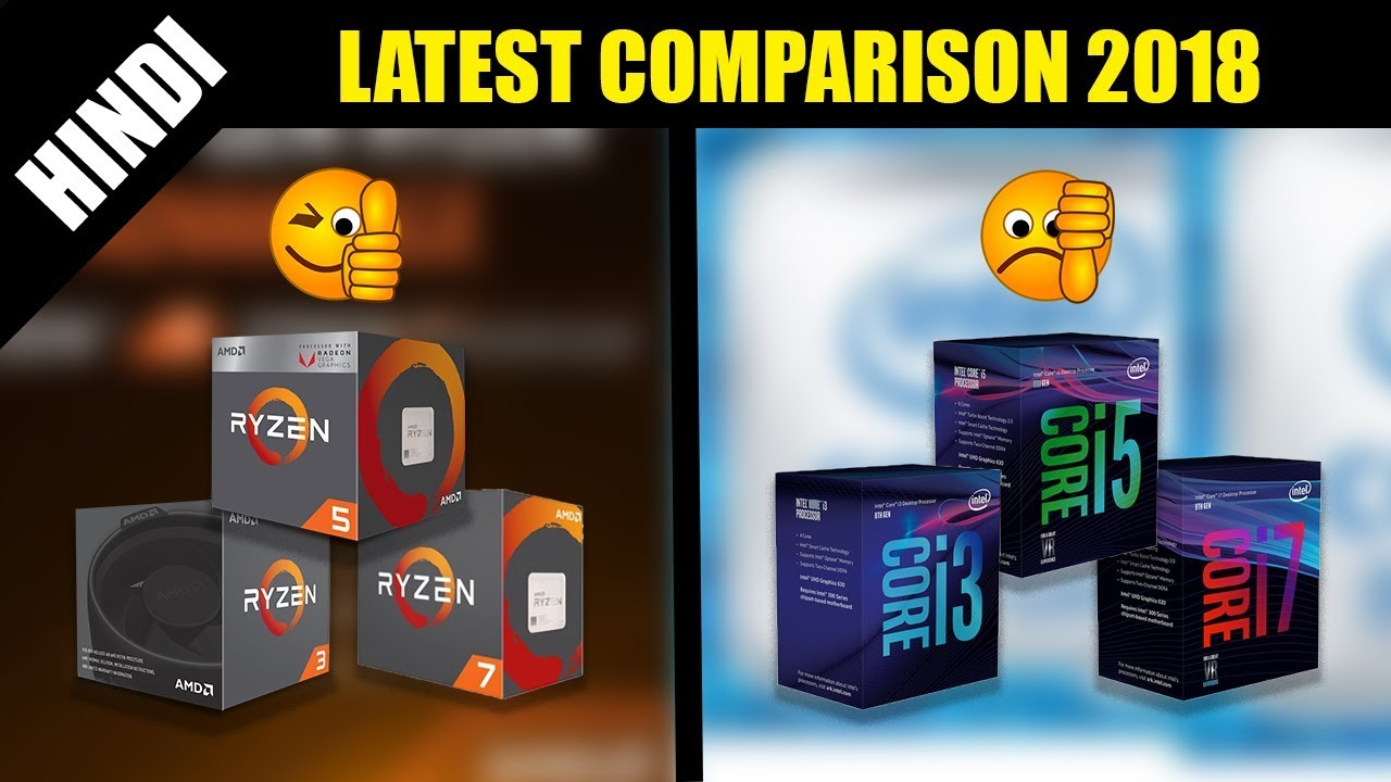 AMD Ryzen vs INTEL budget Gaming PC Build in 2018 Hindi - Tech Budget Gamer